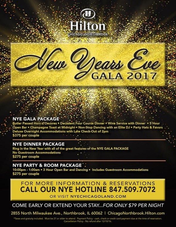 New Year Hilton Event in chicago