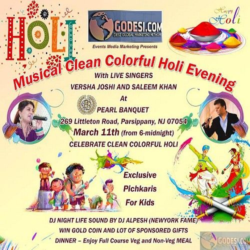 Musical clean colorful Holi Event