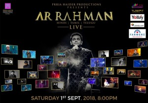A.R. Rahman, upcoming events in USA, top events in USA, events today, events near me, events nearby, music concerts
