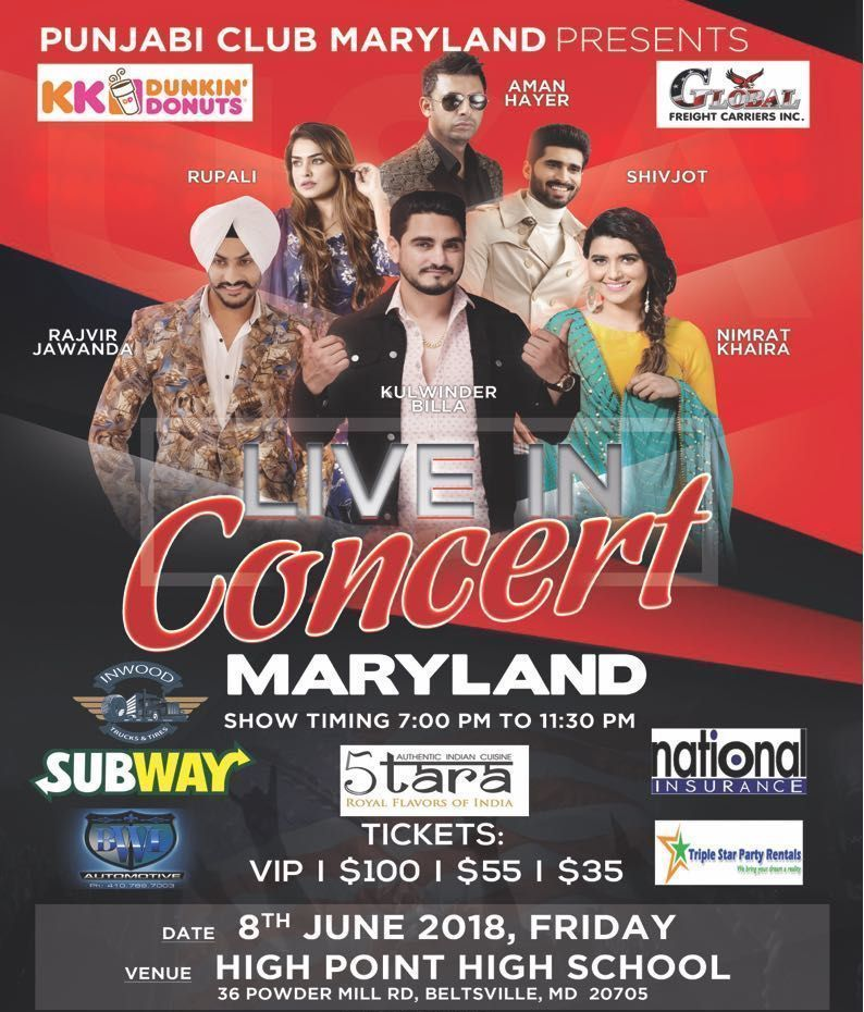 Kulwinder Billa, upcoming event in Maryland, upcoming event in USA, top events in USA, events near me, events nearby, musical concert