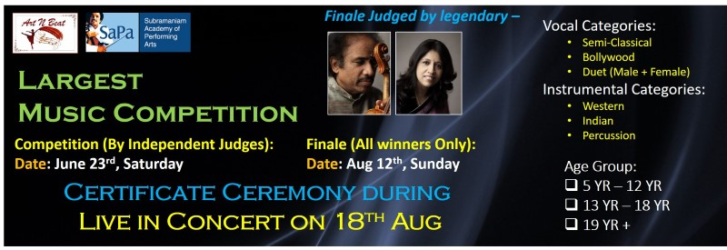 Largest Music Competition, upcoming events in New Jersey, events near me, events nearby, events today, desi events, Indian events, music concert, musical events, music competition, vocal & instrumental competition