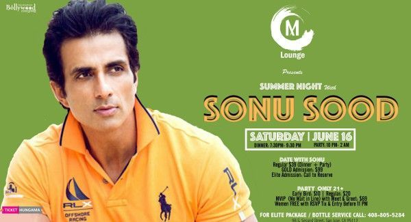 Sonu Sood, summer nights with Sonu Sood, upcoming events in California, events nearby, events near me, Indian events, desi events