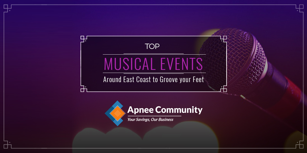 Top Musical Events Around East Coast to Groove your Feet