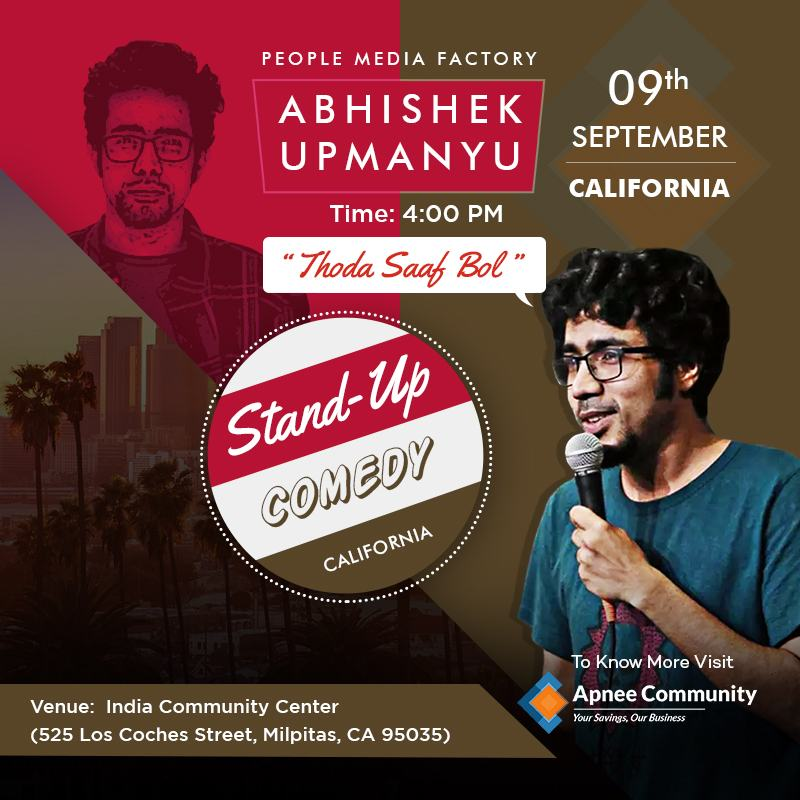 Abhishek Upmanyu 2nd Show in California