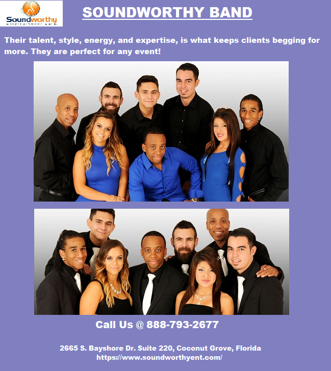 Best Corporate Band Miami - Soundworthy Entertainment Corp