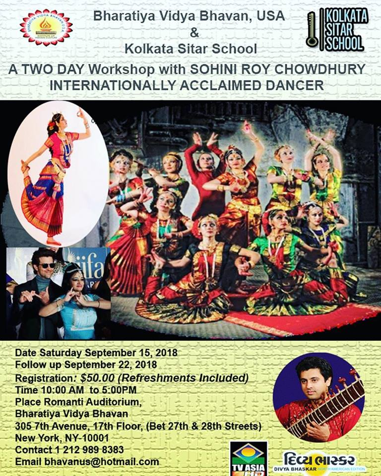 Dance Workshop with Master Choreographer Sohini Roy Chowdhury