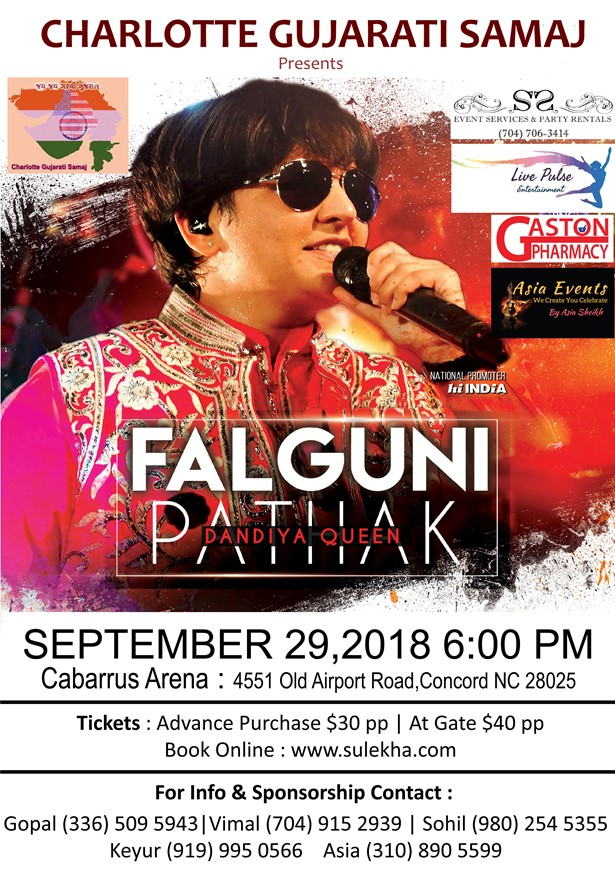 Falguni Pathak Dandiya Dhoom North Carolina