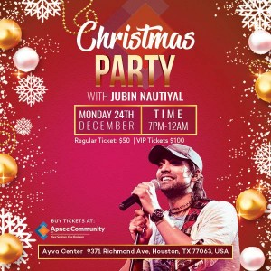 Christmas Party with Jubin Nautiyal in Houston, Texas