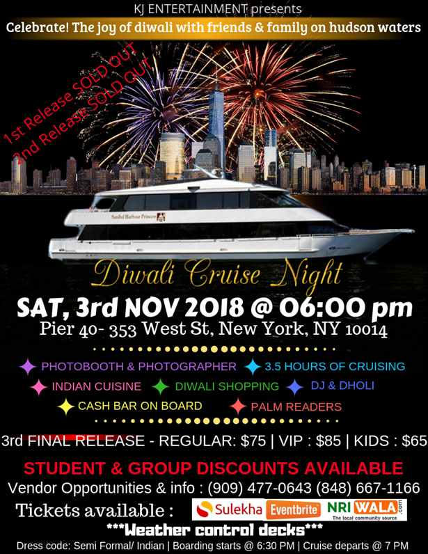 Diwali Cruise Night 2018 - New York
