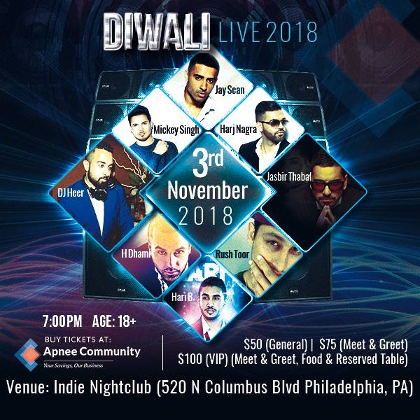 Jay Sean and Mickey Singh - Diwali Live 2018