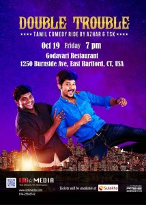 Double Trouble - Tamil Comedy Ride in Connecticut