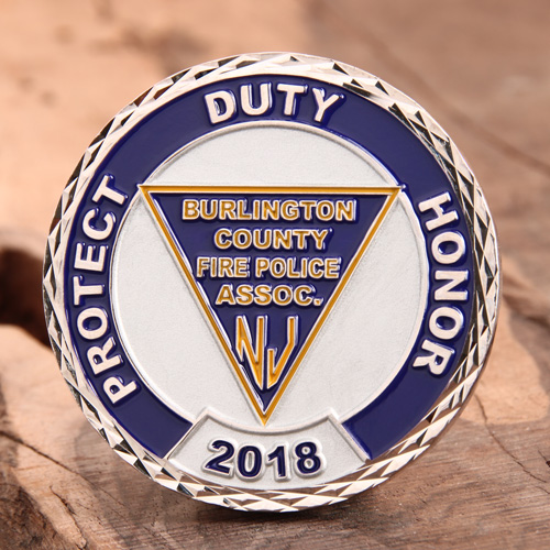 Fire Police Challenge Coins (2)