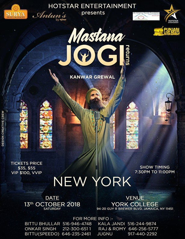 Kanwar Grewal - Mastana Jogi Return to New York