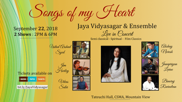 Jaya Vidyasagar - Songs of My Heart in California