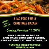 AIAC Food Fair & Christmas Bazaar - Ontario