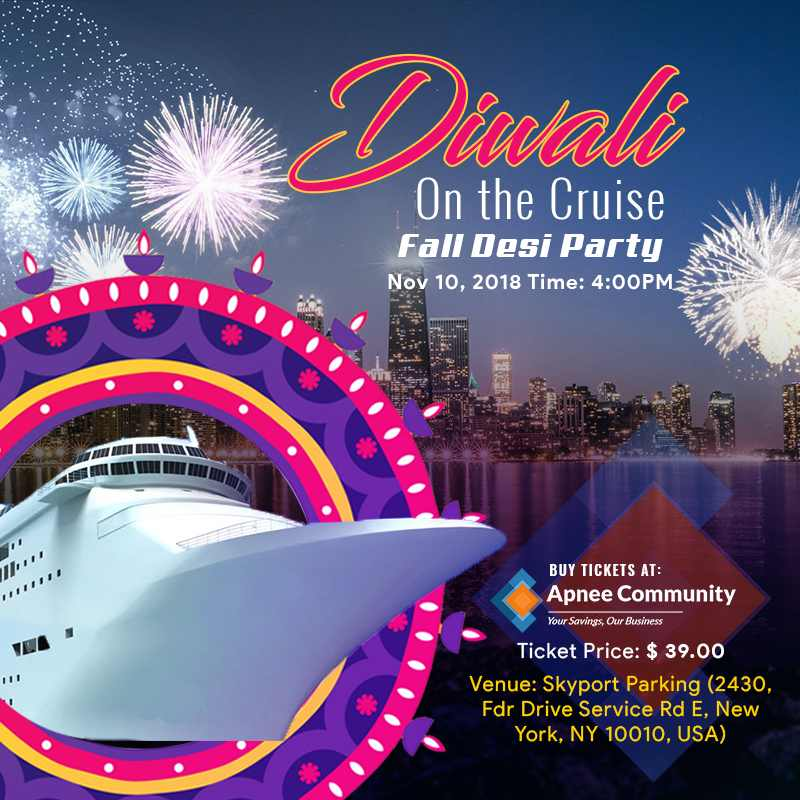 Diwali on the cruise - Fall Desi Party in New York