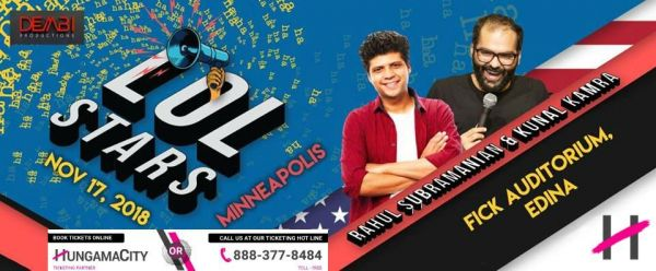 LOLStars Rahul Subramanian and Kunal Kamra – Minneapolis