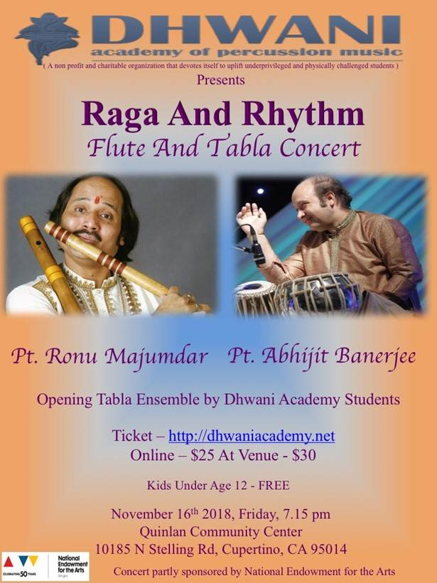Raga and Rhythm | Flute and Tabla Concert - CA