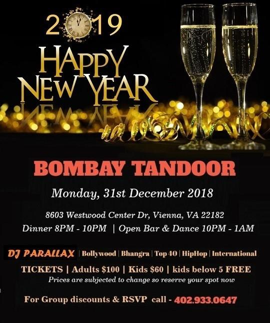 Bombay Tandoor: New Year Bollywood Fusion Party