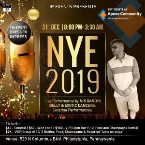 JP Events - New Year's Eve 2019 | New Jersey
