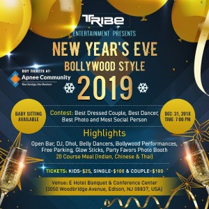 New Year's Eve Bollywood Style 2019 - New Jersey