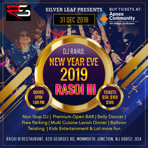 RASOI III New Year Eve 2019 - New Jersey