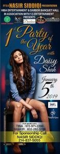 1st Party of the Year with Daisy ShahNew Party With Daisy Shah