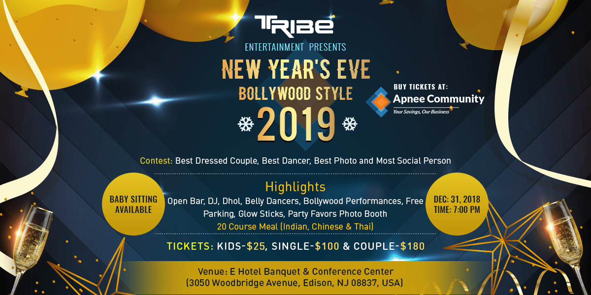 New Year's Eve Bollywood Style 2019 | New Jersey Events