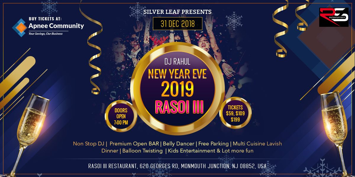 RASOI III New Year Eve 2019 | New Jersey