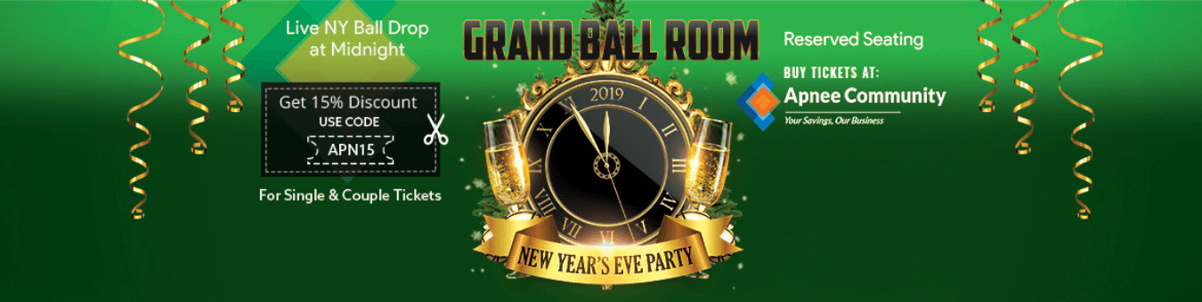 New Year's Eve Party 2019 Grand Ball Room - New Jersey