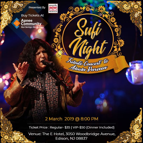 A tribute to Abida Parveen - New Jersey