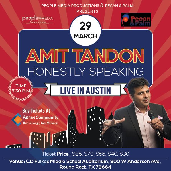 Amit Tandon stand Up Comedy: Live in Austin
