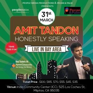 Amit Tandon Stand-Up Comedy: Live in Bay Area - ApneeCommunity Events