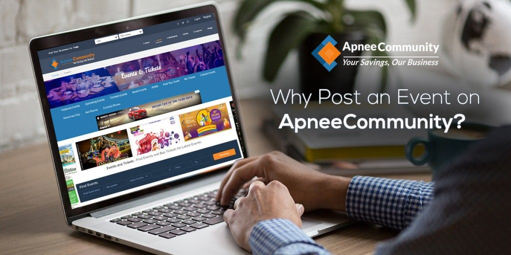 post event online for free only at ApneeCommunity
