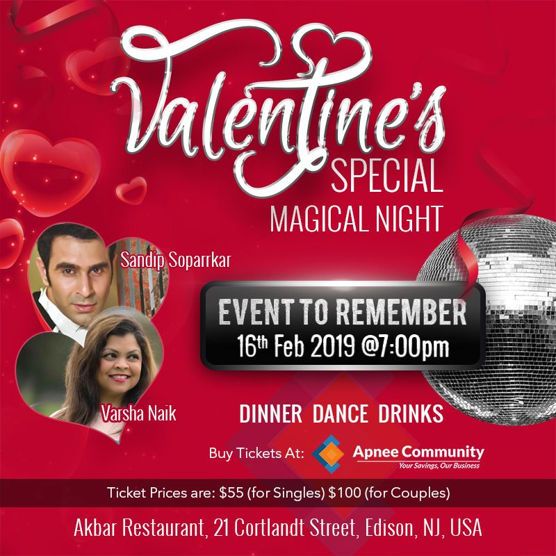 Valentines Special Magical Night with Sandip Sopparker - ApneeCommunity