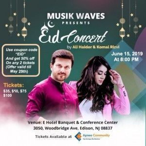 Eid concert flyer updated. May 15th