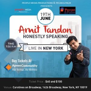 Amit Tandon Live in New York - ApneeCommunity