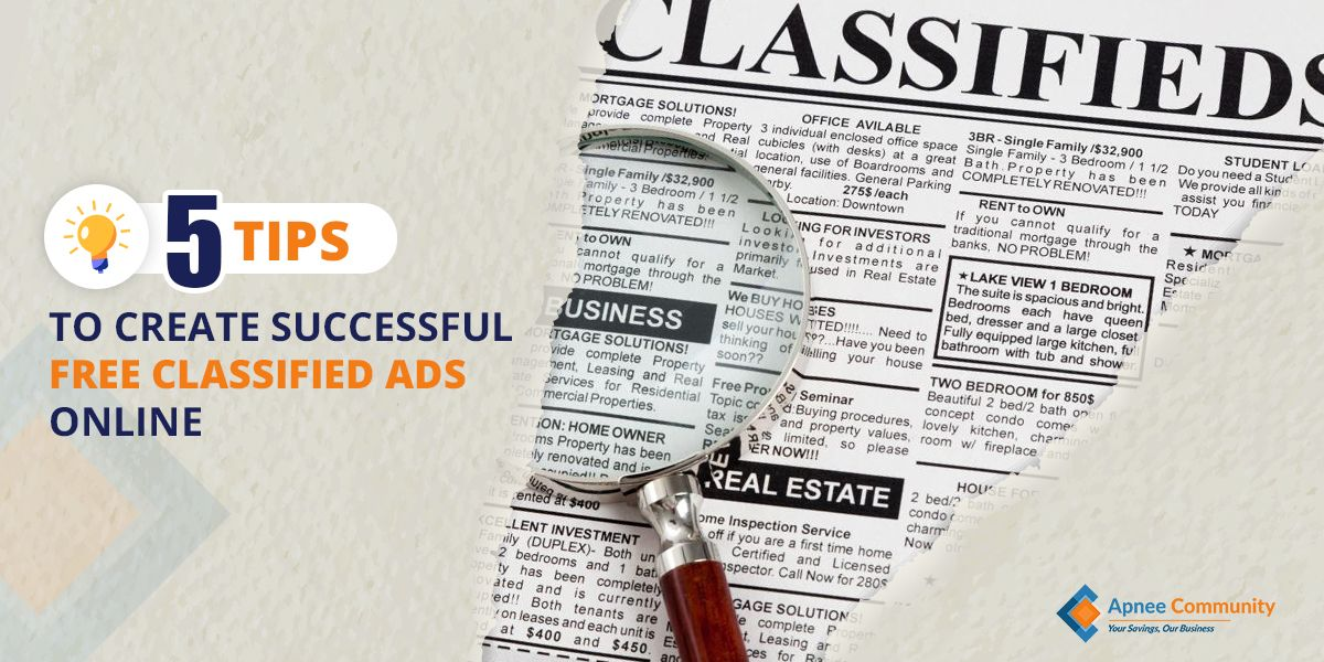 Five Tips To Create Successful Free Classified Ads Online