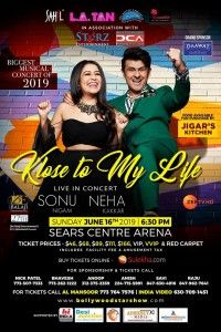 Sonu live on concert Chicago