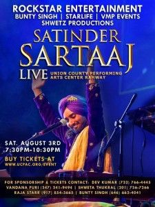 Satinder Sartaj NJ