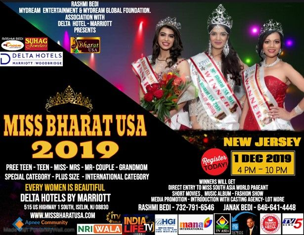 Miss Bharat USA 2019.