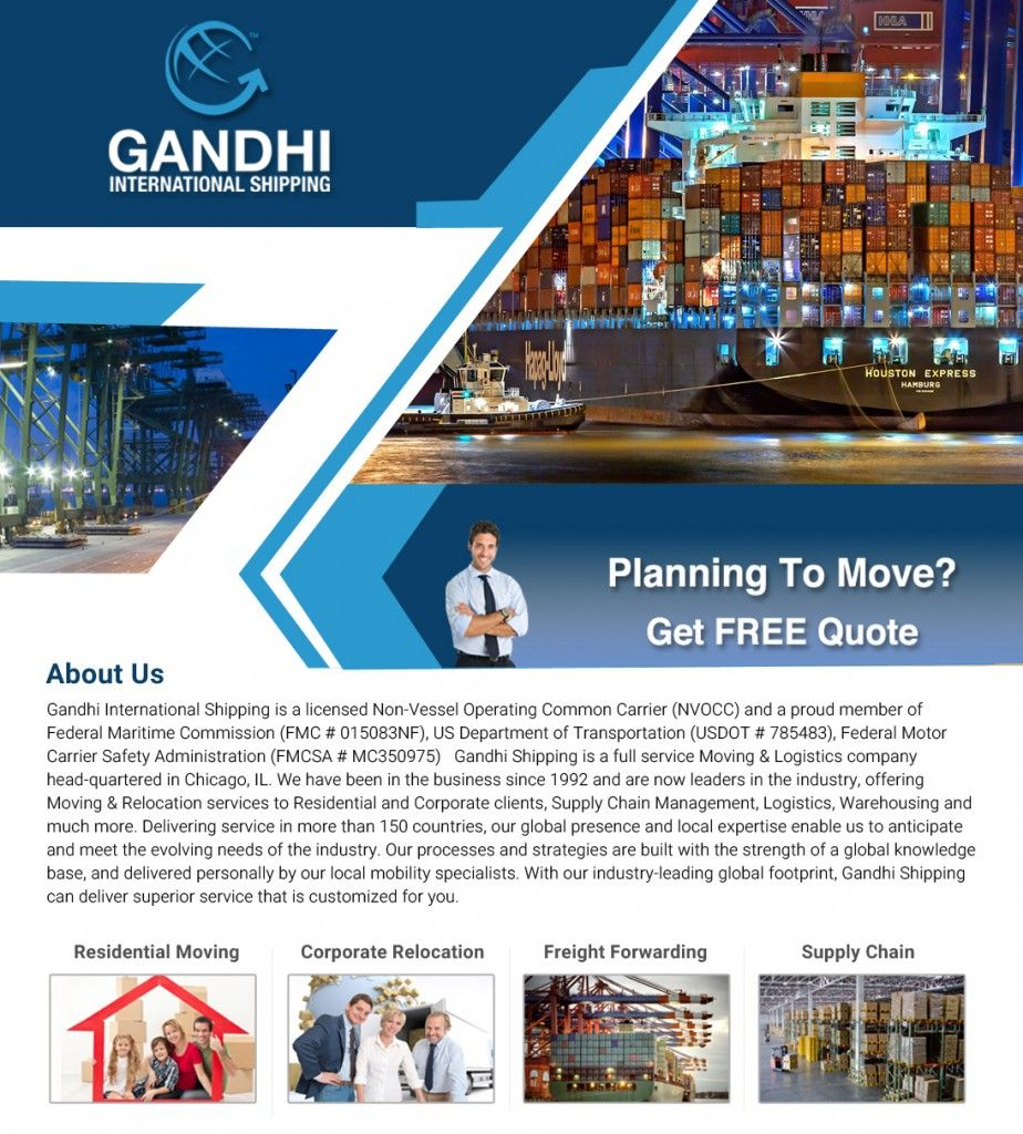 Gandhi International Shipping Inc-IL