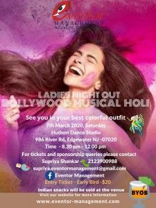 Ladies Night Out - Bollywood Musical Holi Eventor