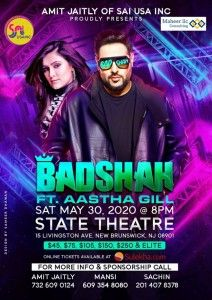 Badshah and Aastha Gill Live Concert in New jersey