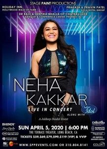Neha Kakkar Live in Concert 2020 with Indian Idol – Los Angeles