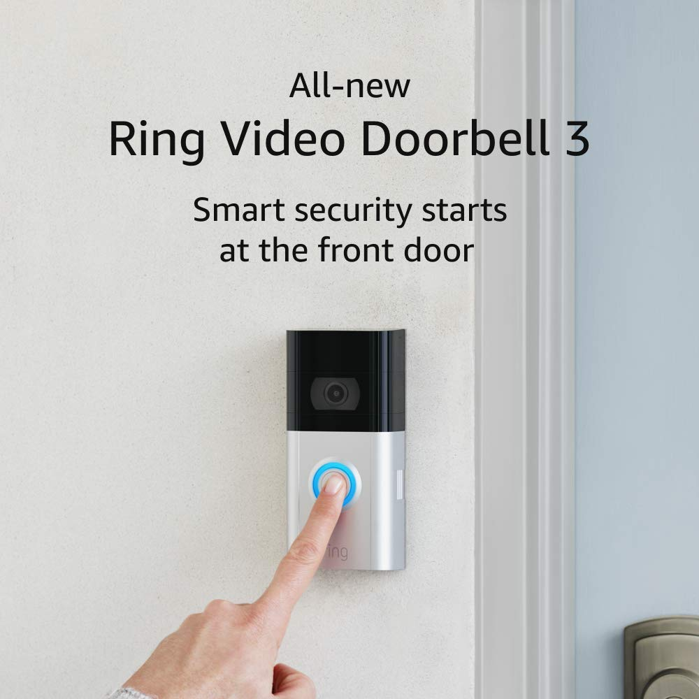 All-new Ring Video Doorbell 3 – 1080p HD video, improved motion detection, easy installation