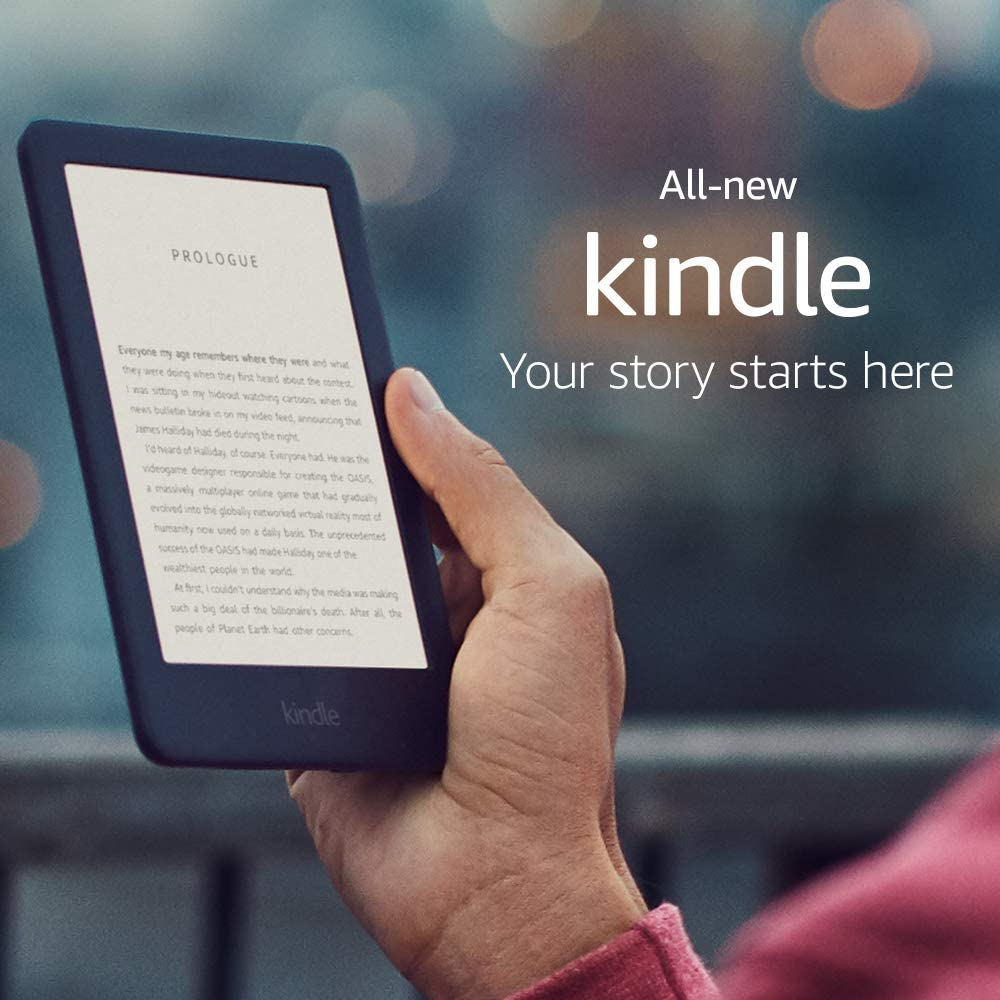 Kindle – Now with a Built-in Front Light – Black – Ad-Supported