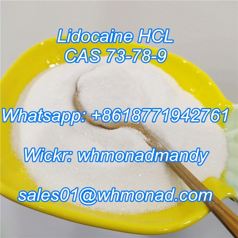 High purity Lidocaine HCl CAS 73-78-9 for Pain Killer
